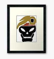 Rambo skull Framed Print
