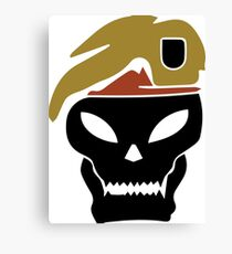 Rambo skull Canvas Print