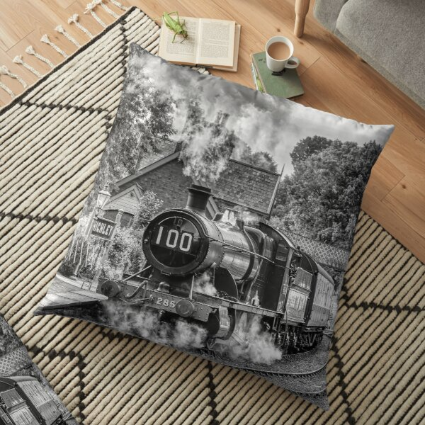 GWR 2857 100th Birthday - Black and White Floor Pillow
