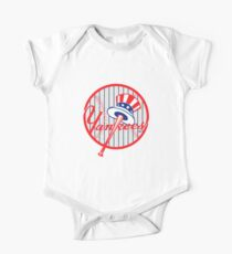 New York Yankees Pinstripes Logo One Piece - Short Sleeve
