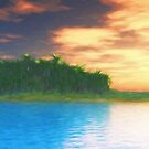 Island Sunset by Walter Colvin