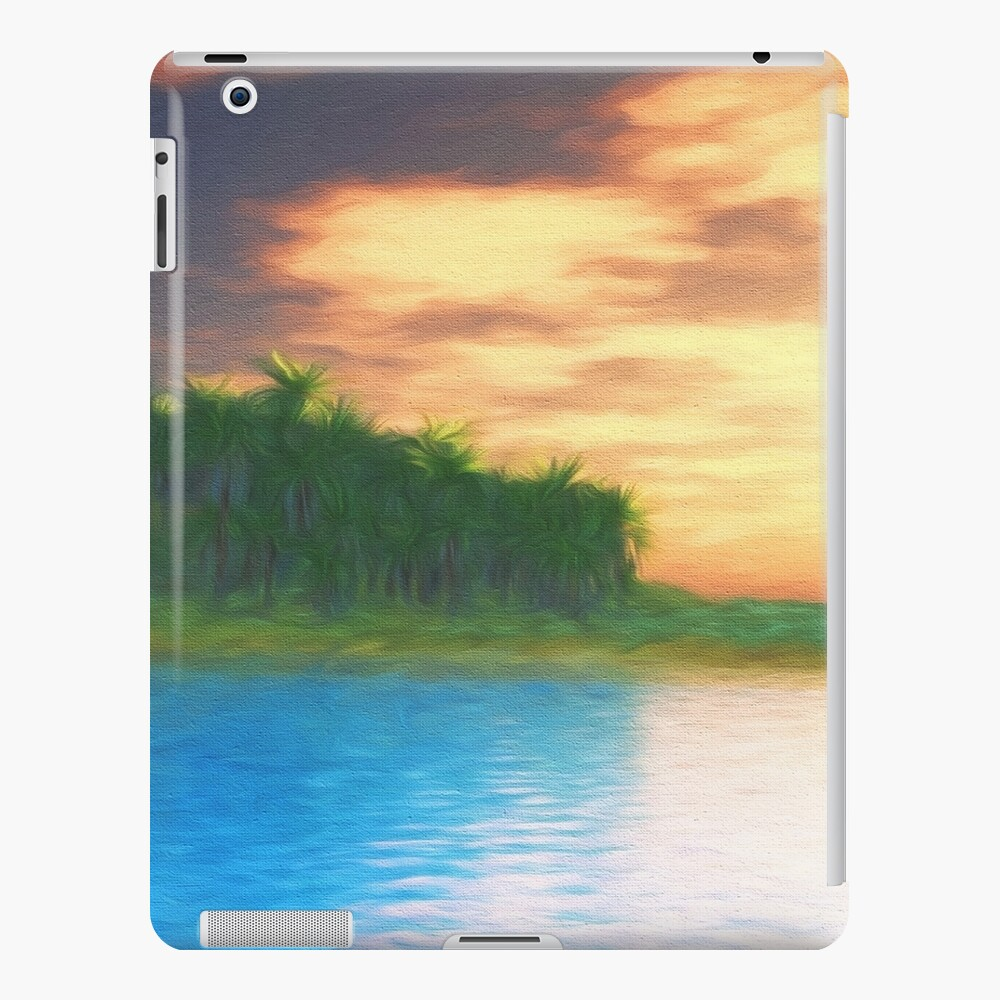 Island Sunset Funda y vinilo para iPad