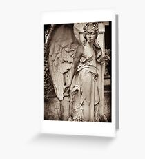 orpheus as angel with lyre Greeting Card