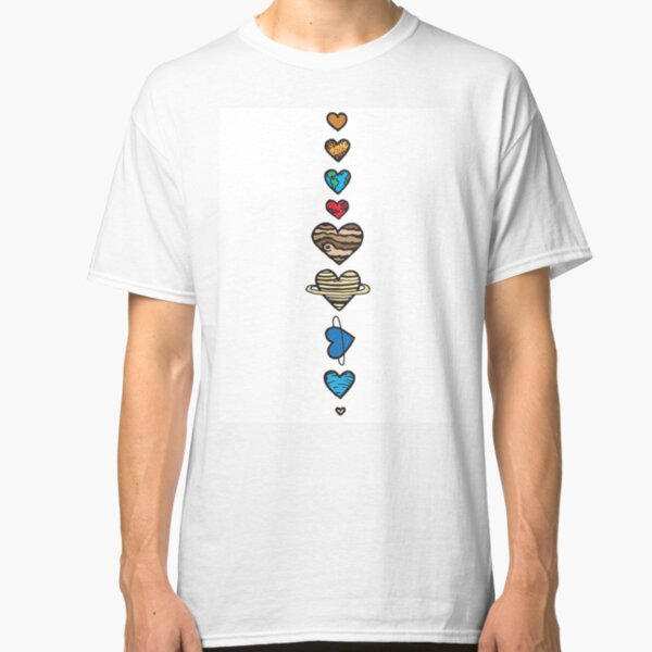 Lovely Coloured Planets Classic T-Shirt