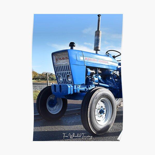 Ford 4000 Traktor von Four Wheeled Farming Poster