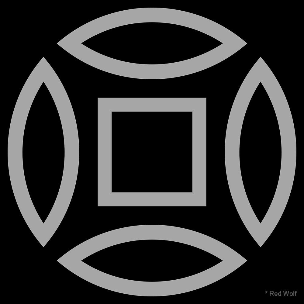 Geometric Pattern: Intersect Outline: Black/Silver by * Red Wolf