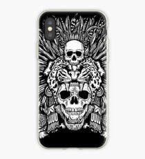 Vinilo o funda para iPhone Aztec Jaguar Mask and Macuahuitl