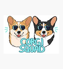 CORGI SQUAD - (The Doctor and the Queen) Photographic Print