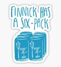 The Swimmer Has a Six-Pack (Light Blue) Sticker