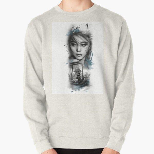 Geisha and Samurai Pullover Sweatshirt