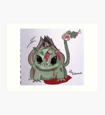 zombiemon bulbasure Art Print