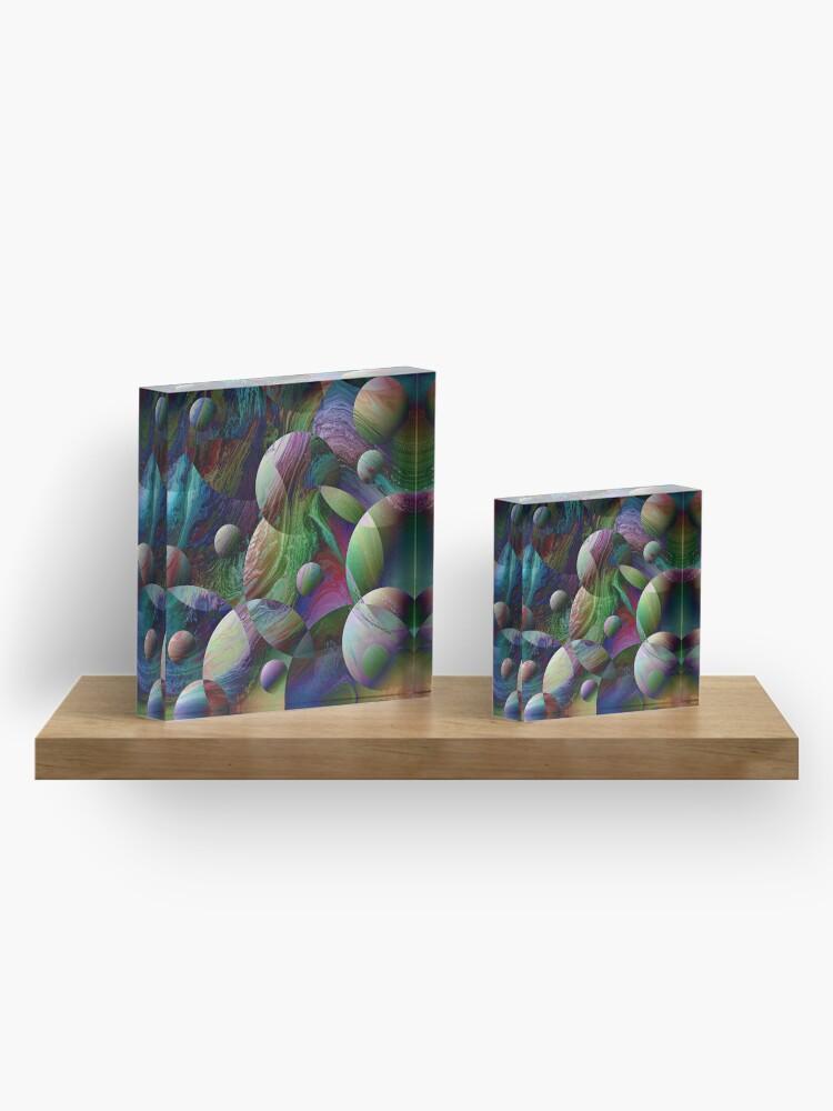 Alternate view of Orbs 4 Acrylic Block