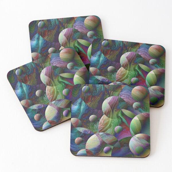 Orbs 4 Coasters (Set of 4)