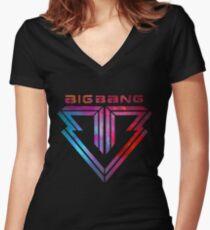 Big Bang - smokey Women's Fitted V-Neck T-Shirt