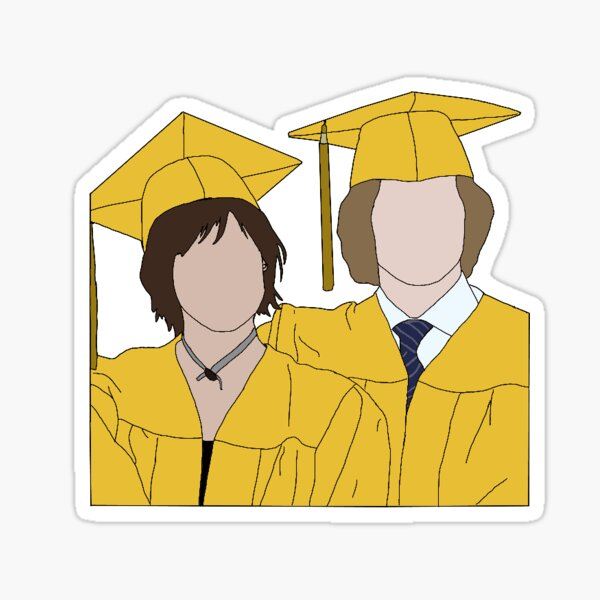 Alice Cullen & Jasper Hale Graduation Sticker