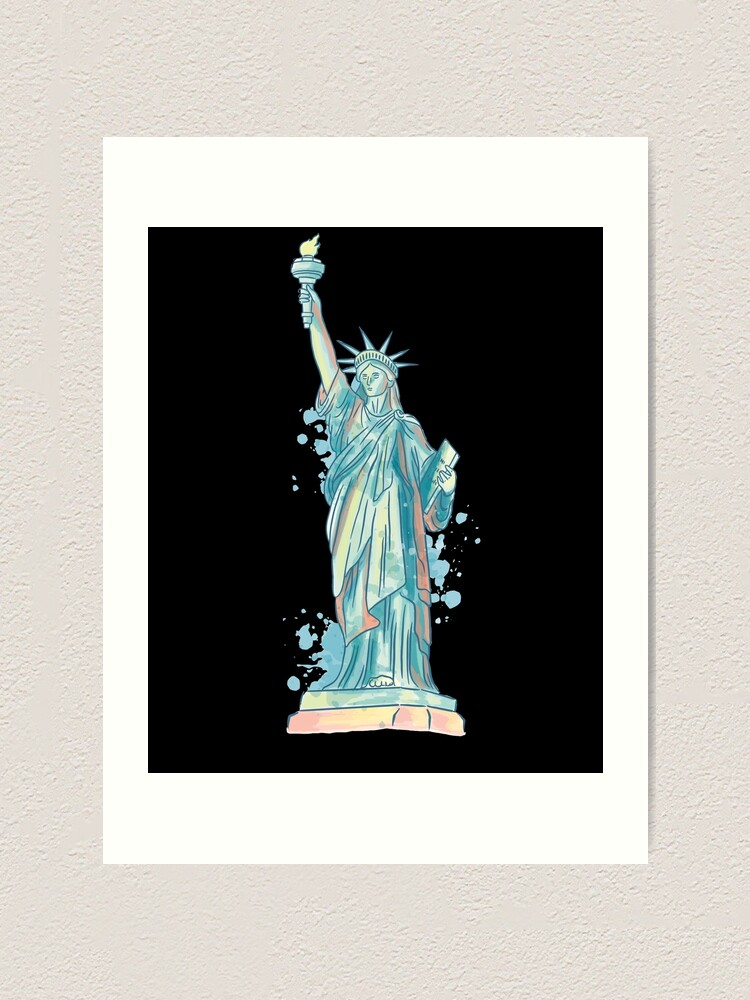 Alternate view of Aquarel Statue Of Liberty Art Art Print