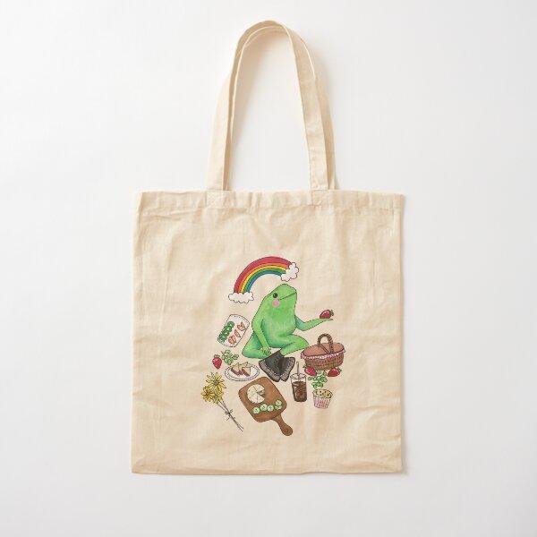 picnic frog Cotton Tote Bag
