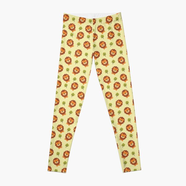 Cute lion pattern design ideas | cool and funny art  Leggings
