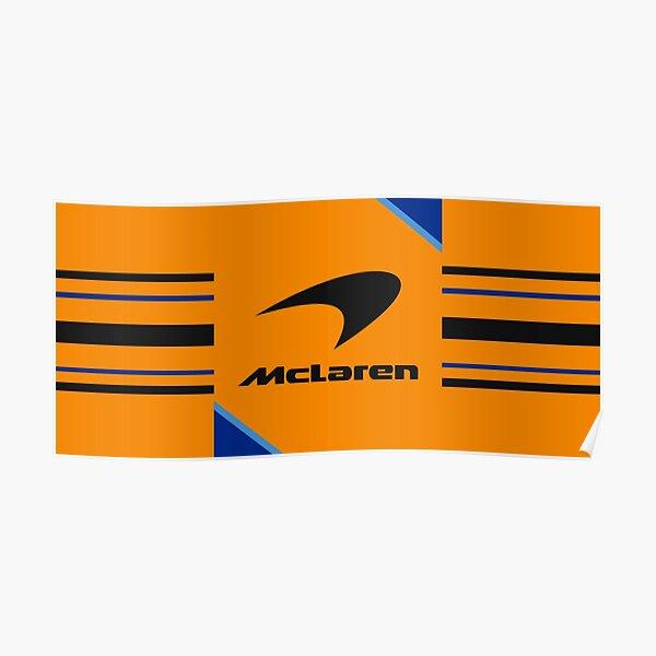 McLaren F1 logo conception abstraite formule 1 Poster