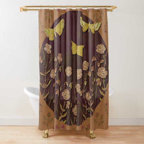 Autumn Butterflies & Blooms  Shower Curtain