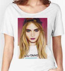 Cara Delevingne pencil portrait 4 Women's Relaxed Fit T-Shirt