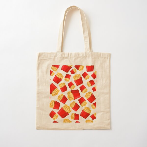 French fries pattern Cotton Tote Bag