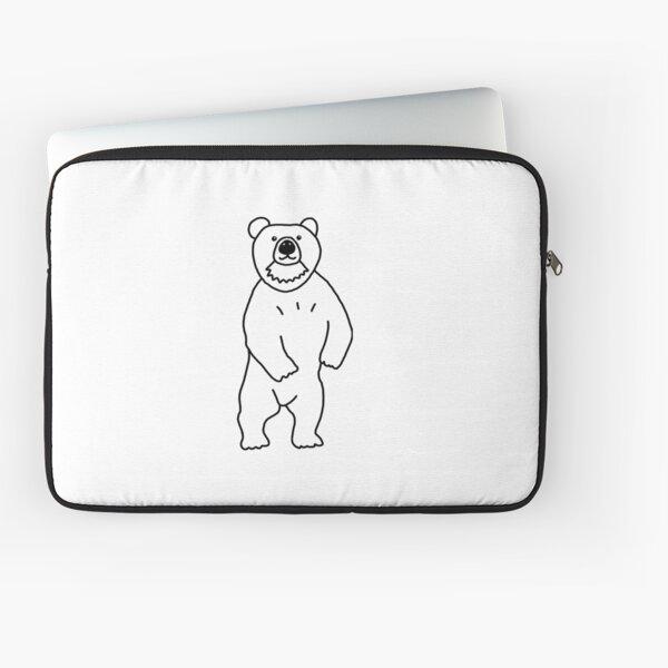 Hello Cute Bear Laptop Sleeve