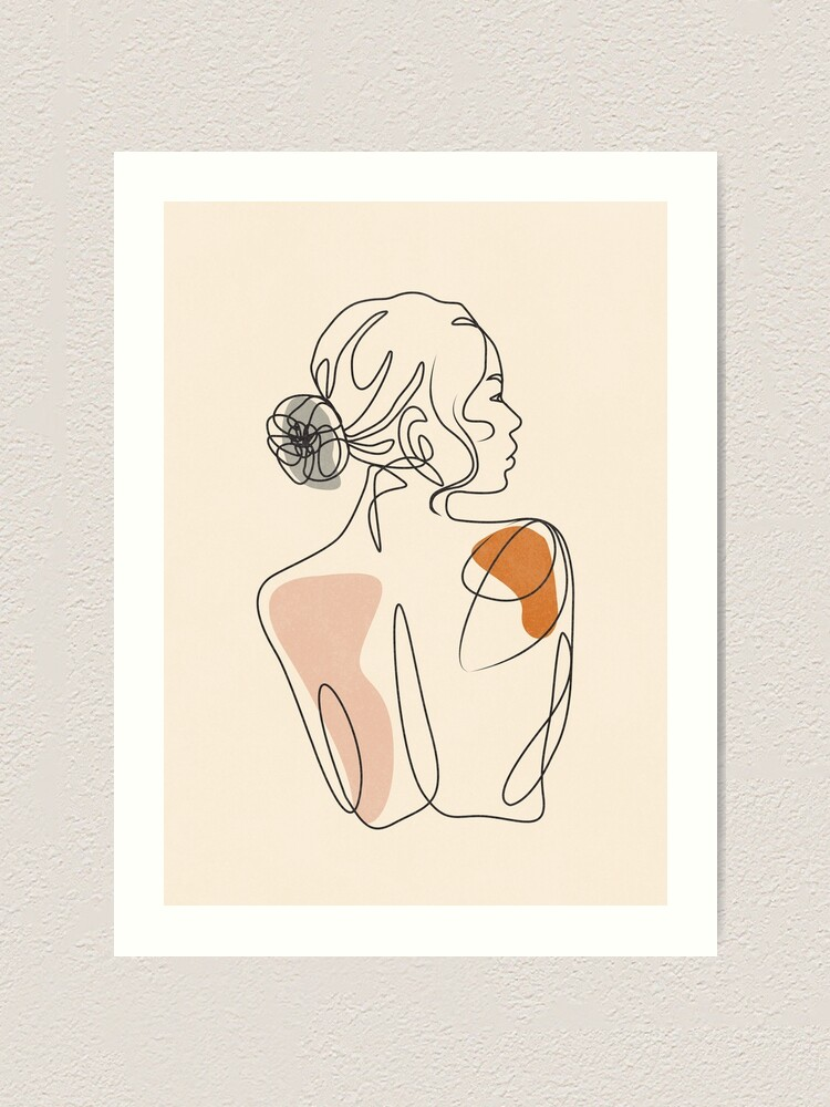 Alternate view of girl Art Print