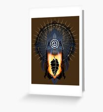 Buddha On Fire Greeting Card