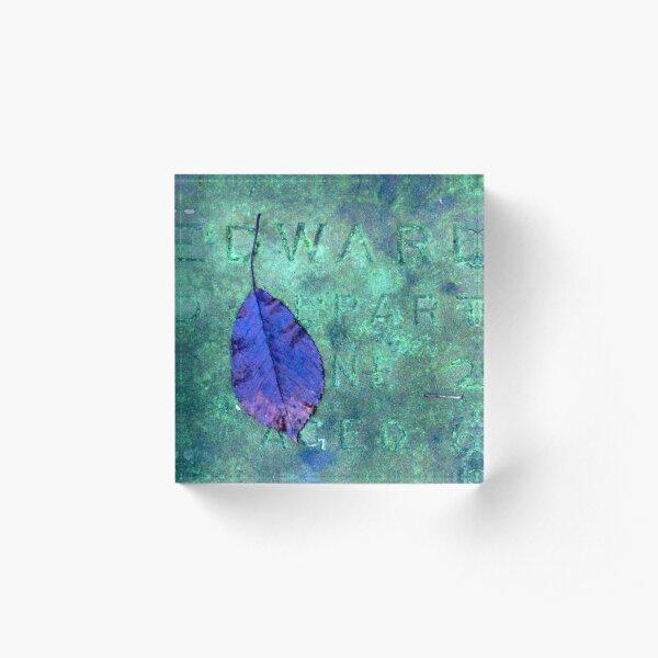 Edward grave and leaf Acrylic Block