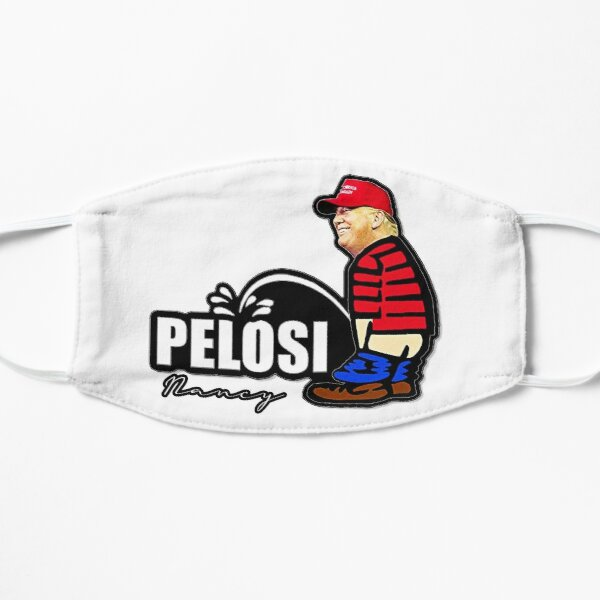 Trump Pissing PELOSI Shaped Sticker (drôle de pisser politique à gauche nancy) Flat Mask