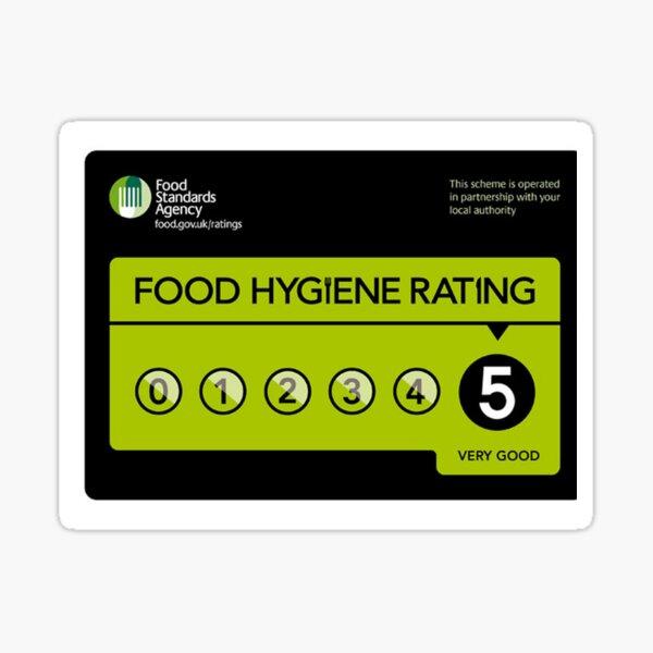 Food Hygiene Rating Original Display 5 star  Sticker