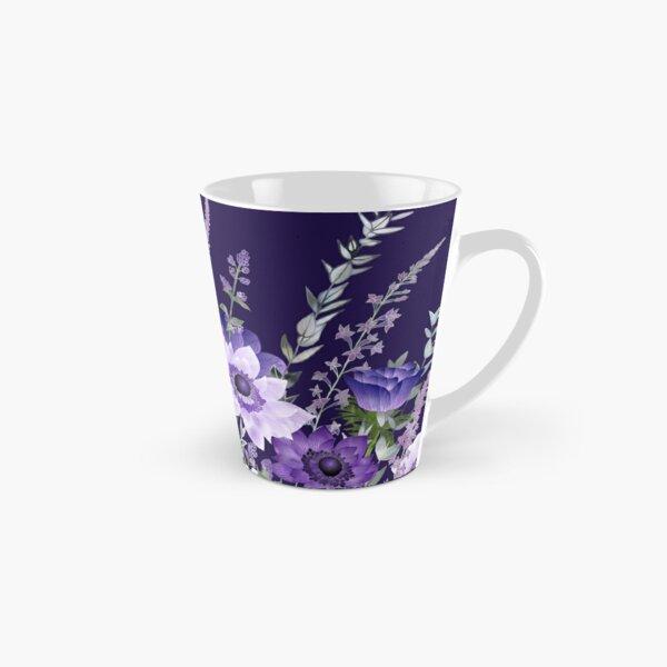Purple Anemones & Catmint Flowers Tall Mug