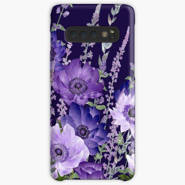 Purple Anemones & Catmint Flowers Samsung Galaxy Snap Case