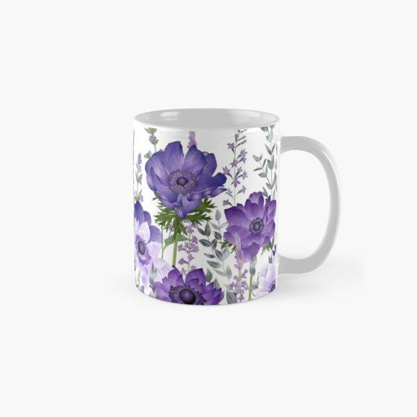 Purple Anemones & Catmint Flowers Classic Mug
