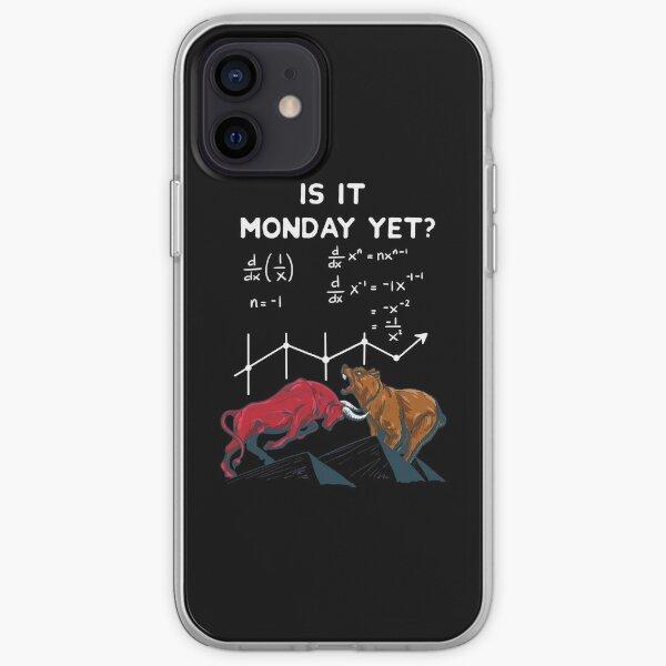¿Ya es lunes? Cotizaciones divertidas del mercado de valores Funda blanda para iPhone