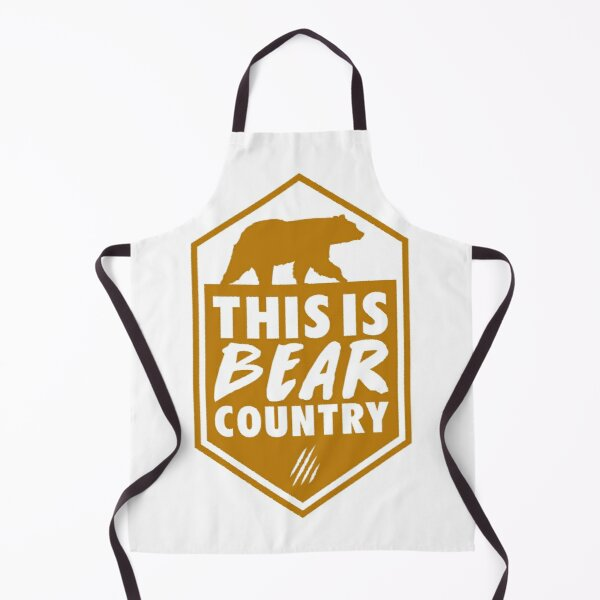 This is Bear Country - White Apron