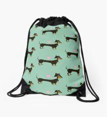 Minty Dog - Dachshund Sausage Dog Drawstring Bag