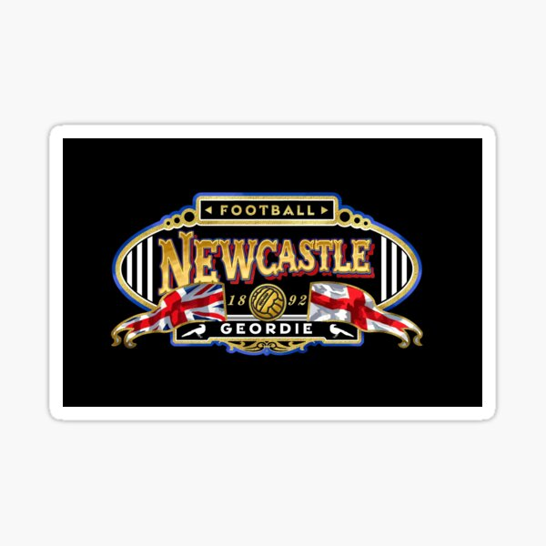 Newcastle football 'Geordie' design for face mask Sticker