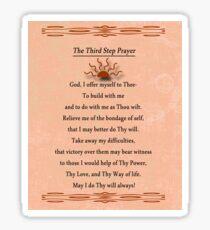 Third Step Prayer Sticker