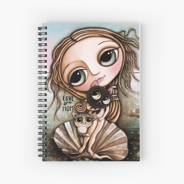 The Venus and the two cats Spiral Notebook