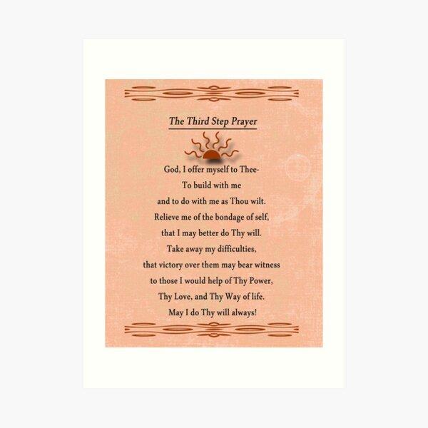 Third Step Prayer Art Print