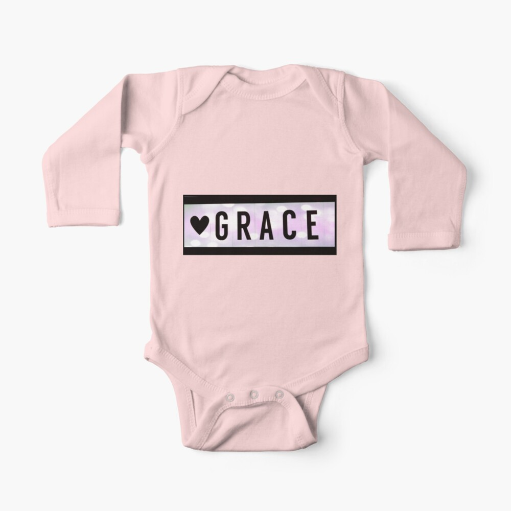 Grace magnet, Grace sticker Baby One-Piece