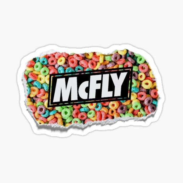 mcfly growing up cereal young dumb thrills logo Sticker