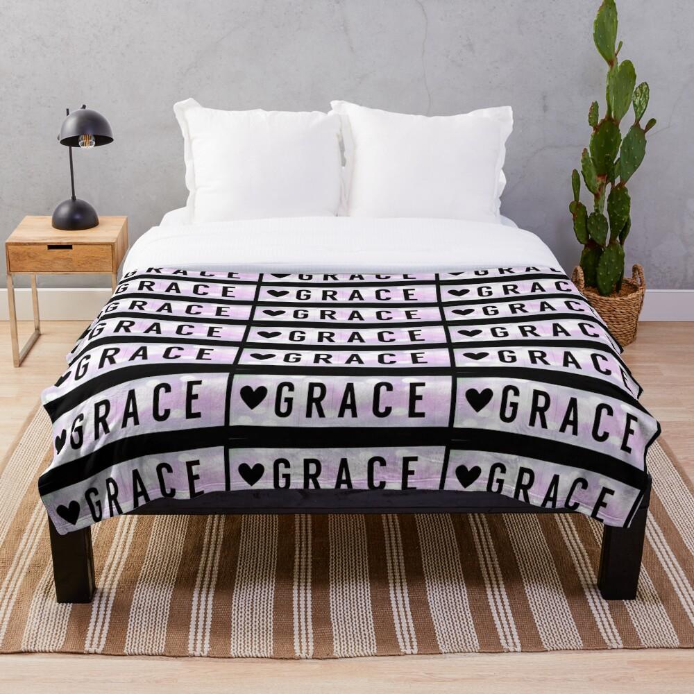 Grace magnet, Grace sticker Throw Blanket