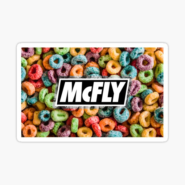 mcfly growing up cereal young dumb thrills logo 2 Sticker