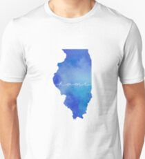 Illinois watercolor home T-Shirt