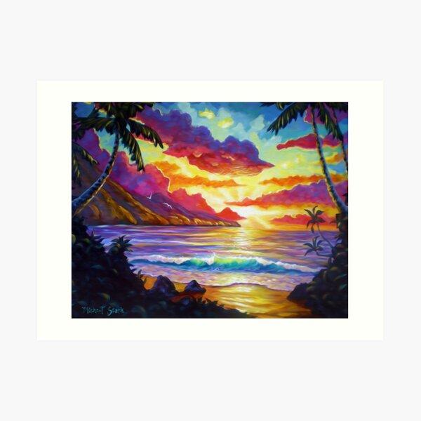 South Maui Sunset Art Print