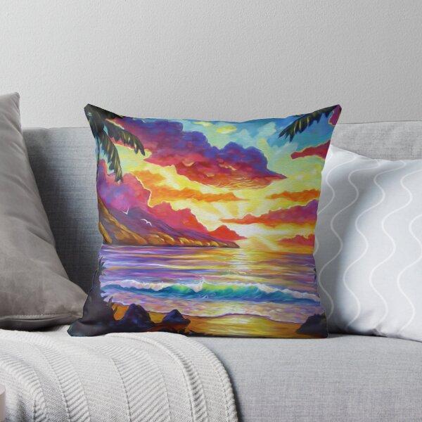 South Maui Sunset Throw Pillow