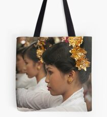 Girls in Marching Contest Tote Bag